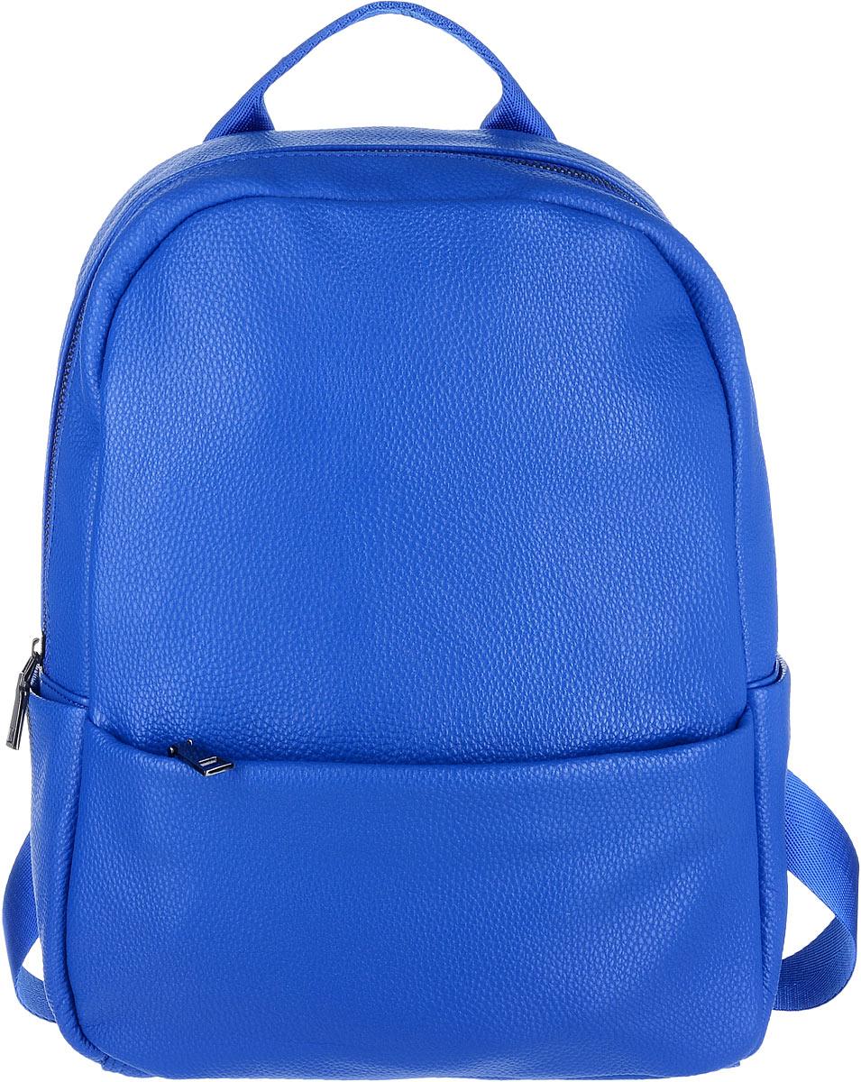 Рюкзак женский OrsOro, цвет: синий. D-265/4D-265/4Яркий рюкзак OrsOro исполнен из экокожи высокого качества. Имеет одно вместительное отделение на молнии. Так же в отделении присутствуют два накладных кармашка под сотовый телефон или для мелочей и один прорезной карман на застежке-молнии. Рюкзак обладает удобной ручкой сверху для переноски и двумя регулируемыми плечевыми ремнями-лямками. Снаружи так же имеются два кармана на молнии: один спереди, другой, вертикальный, сзади. По бокам рюкзака находятся два накладных кармашка.