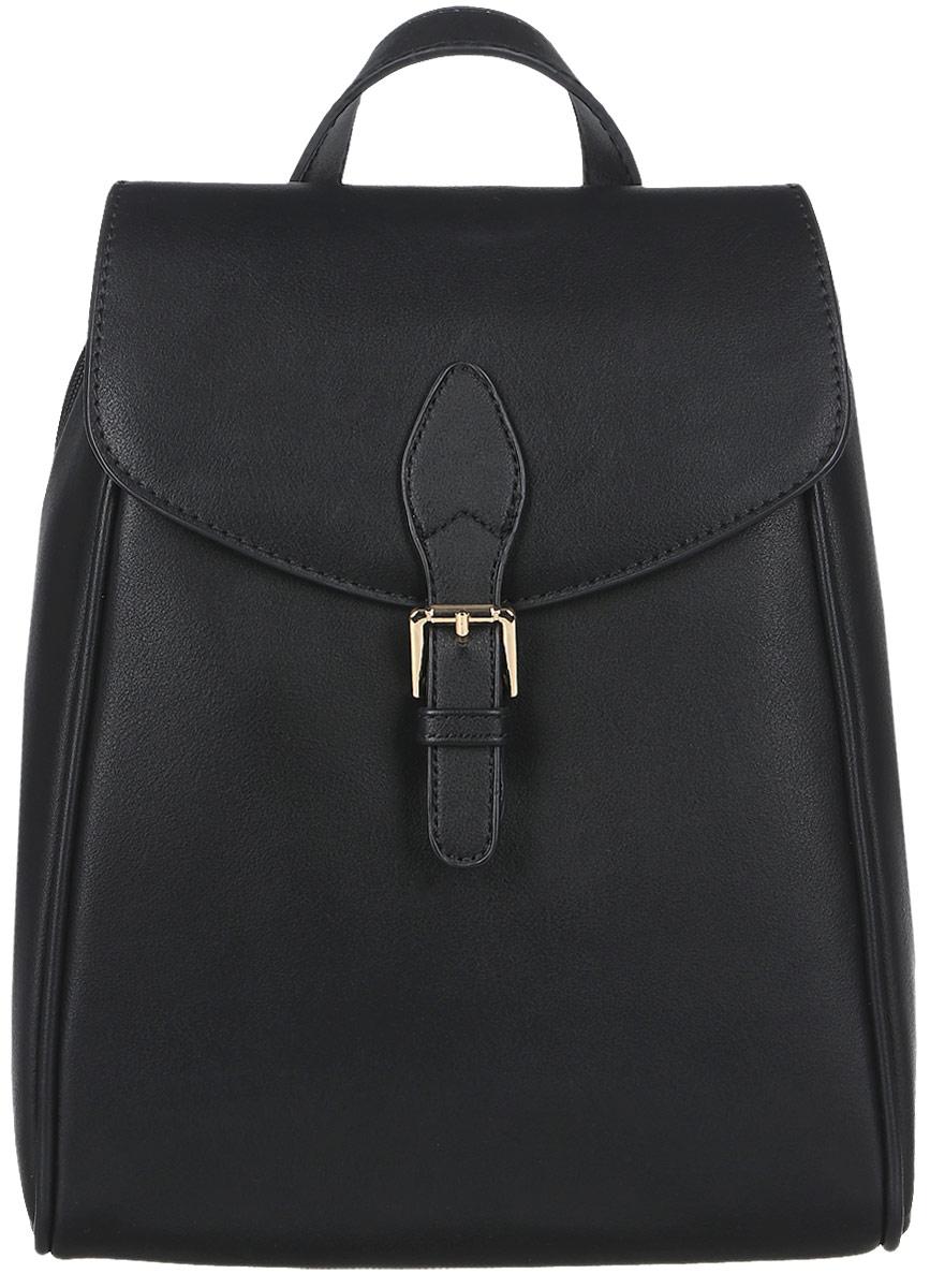 Рюкзак женский David Jones, цвет: черный. СМ3371СМ3371 BLACKВысота ручки: 10 . Рюкзак. Одно отделение, два карман (один на молнии), внешний карман на задней стенке (на молнии).