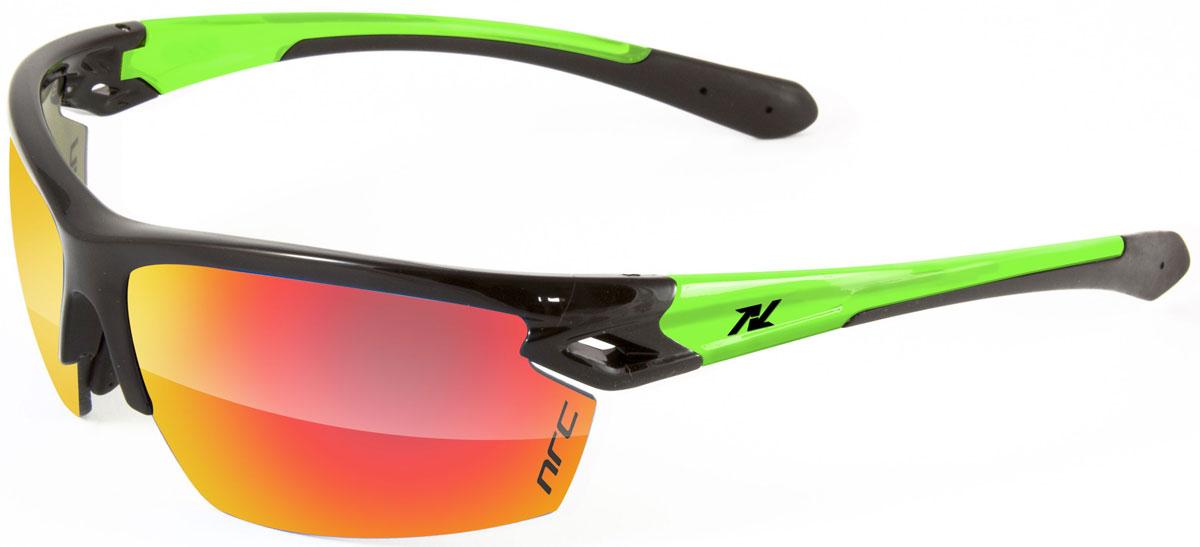Очки солнцезащитные NRC, цвет: черный. 2101621016Бренд NRC представляет очки, предназначенные как для езды на велосипеде, так и для многих других видов спорта. NRC известен собственными фирменными разработками, адаптирующими очки под разные климатические условия, различное время суток, степень освещенности, а также под индивидуальные потребности каждого конкретного пользователя. Очки блестящие(глянцевые) черно-зеленые Красные зеркальные линзы Материал оправы – нейлон (TR90) Оправа - регулируемые носоупоры, возможность использовать одновременно с обычными (рецептурными) очками Материал линзы - поликарбонат (РС) Покрытие –защитное от царапин, антибликовое, антизапотевающее, зеркальное Прозрачность -15% Категория фильтра -3 Вес -25,5 г Кривизна (изгиб) - 8