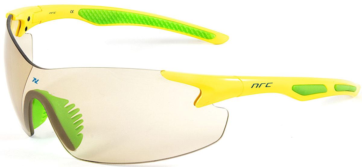 Очки солнцезащитные NRC, цвет: желый. 2102321023Бренд NRC представляет очки, предназначенные как для езды на велосипеде, так и для многих других видов спорта. NRC известен собственными фирменными разработками, адаптирующими очки под разные климатические условия, различное время суток, степень освещенности, а также под индивидуальные потребности каждого конкретного пользователя. Очки желто-зеленые Дымчатые фотохромные линзы Материал оправы – нейлон (TR90) Оправа - широкие линзы, обеспечивающие максимальную защиту и видимость Материал линзы - поликарбонат (РС) Покрытие –защитное от царапин, антизапотевающее, зеркальное Прозрачность -13% Категория фильтра -3 Вес -24,1 г Кривизна (изгиб) - 7