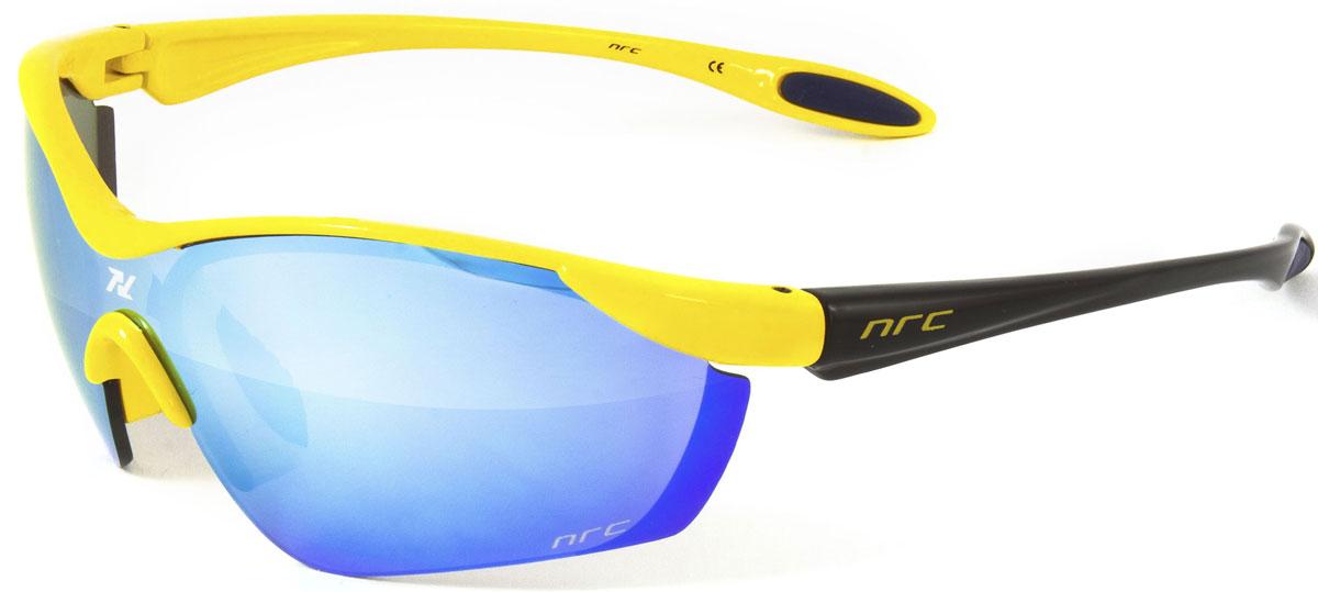 Очки солнцезащитные NRC, цвет: желый. 2103321033Бренд NRC представляет очки, предназначенные как для езды на велосипеде, так и для многих других видов спорта. NRC известен собственными фирменными разработками, адаптирующими очки под разные климатические условия, различное время суток, степень освещенности, а также под индивидуальные потребности каждого конкретного пользователя. Очки флуорисцентные желто-черные Синие зеркальные линзы Материал оправы – Нейлон (TR90) Оправа - изогнутые и удобные Материал линзы - поликарбонат (РС) Особенности линзы - фотохромные Покрытие – защитное от царапин, антизапотевающее, зеркальное Прозрачность -11% Категория фильтра -3 Вес -22,2 г Кривизна (изгиб) -7