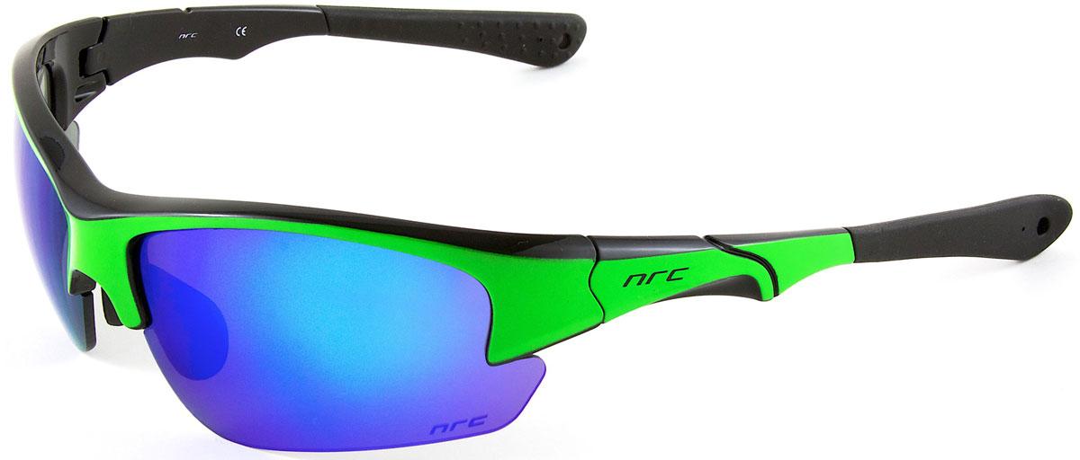 Очки солнцезащитные NRC, цвет: зеленый. 2103521035Бренд NRC представляет очки, предназначенные как для езды на велосипеде, так и для многих других видов спорта. NRC известен собственными фирменными разработками, адаптирующими очки под разные климатические условия, различное время суток, степень освещенности, а также под индивидуальные потребности каждого конкретного пользователя. Очки глянцевые черные с флуорисцентно-зеленым Синие зеркальные линзы Материал оправы – Нейлон (TR90) Оправа - регулируемые носоупоры и дужки Материал линзы - поликарбонат (РС) Особенности линзы - фотохромные Покрытие – защитное от царапин, зеркальное Прозрачность -15% Категория фильтра -3 Вес -32,3 г Кривизна (изгиб) -8