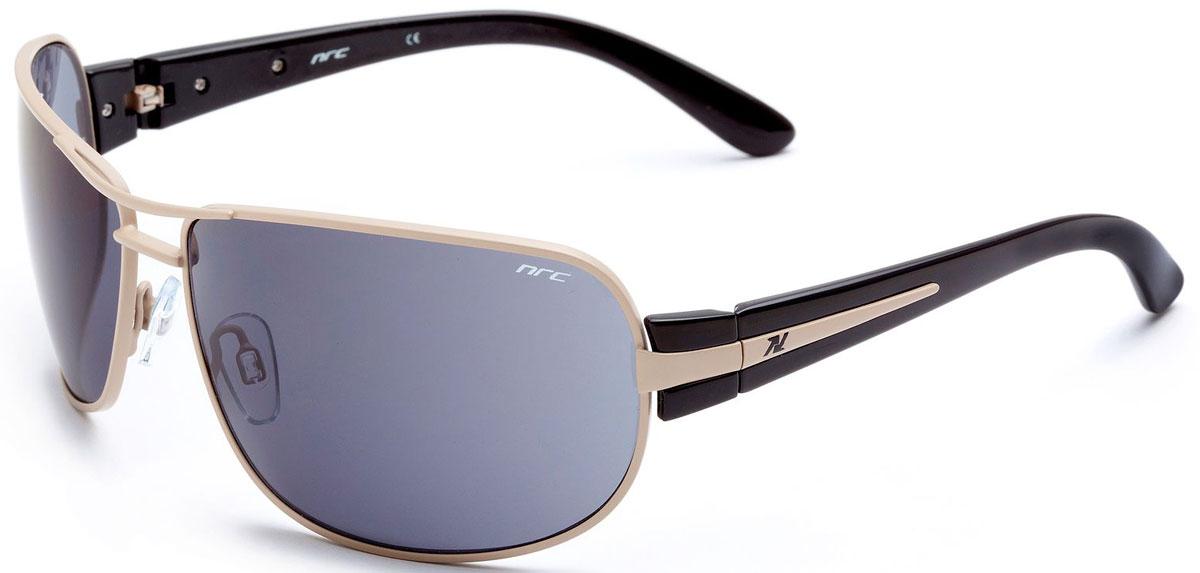 Очки солнцезащитные NRC, цвет: черный. 2104921049Бренд NRC представляет очки, предназначенные как для езды на велосипеде, так и для многих других видов спорта. NRC известен собственными фирменными разработками, адаптирующими очки под разные климатические условия, различное время суток, степень освещенности, а также под индивидуальные потребности каждого конкретного пользователя. Очки блестящие(глянцевые)черно-бежевые Дымчатые линзы