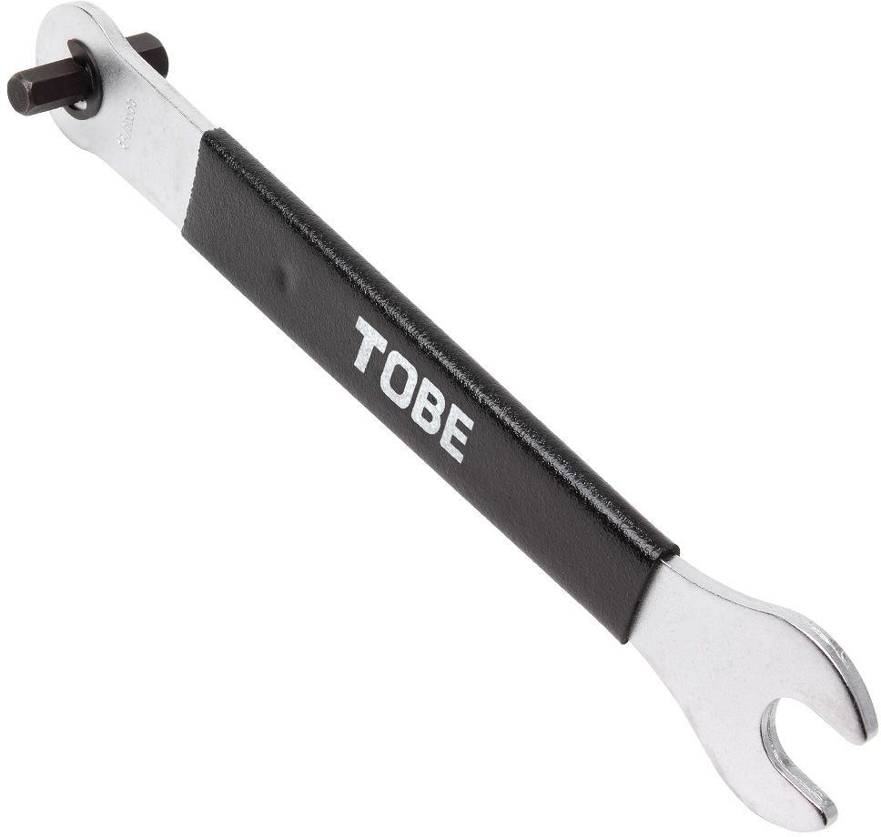 Ключ педальный To Be, 3 в 1. 21122112Конусный ключ B666065 15мм гаечный ключ и 8x10mm шестигранный ключ.