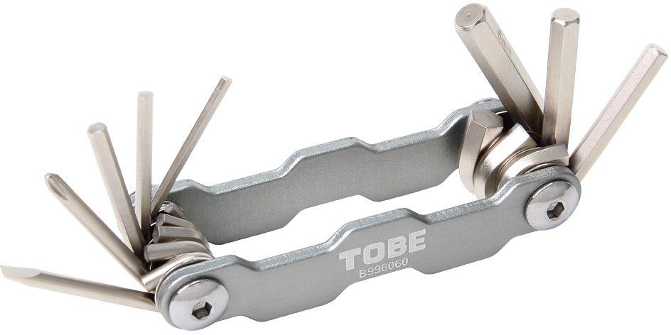 Складной инструмент To Be, 8 в 1. 21252125Складные инструменты B996060 Особенности: 6-гранный торцевые ключи 2/2.5/3/4/5/6 мм;Отвертка (+)/(-)