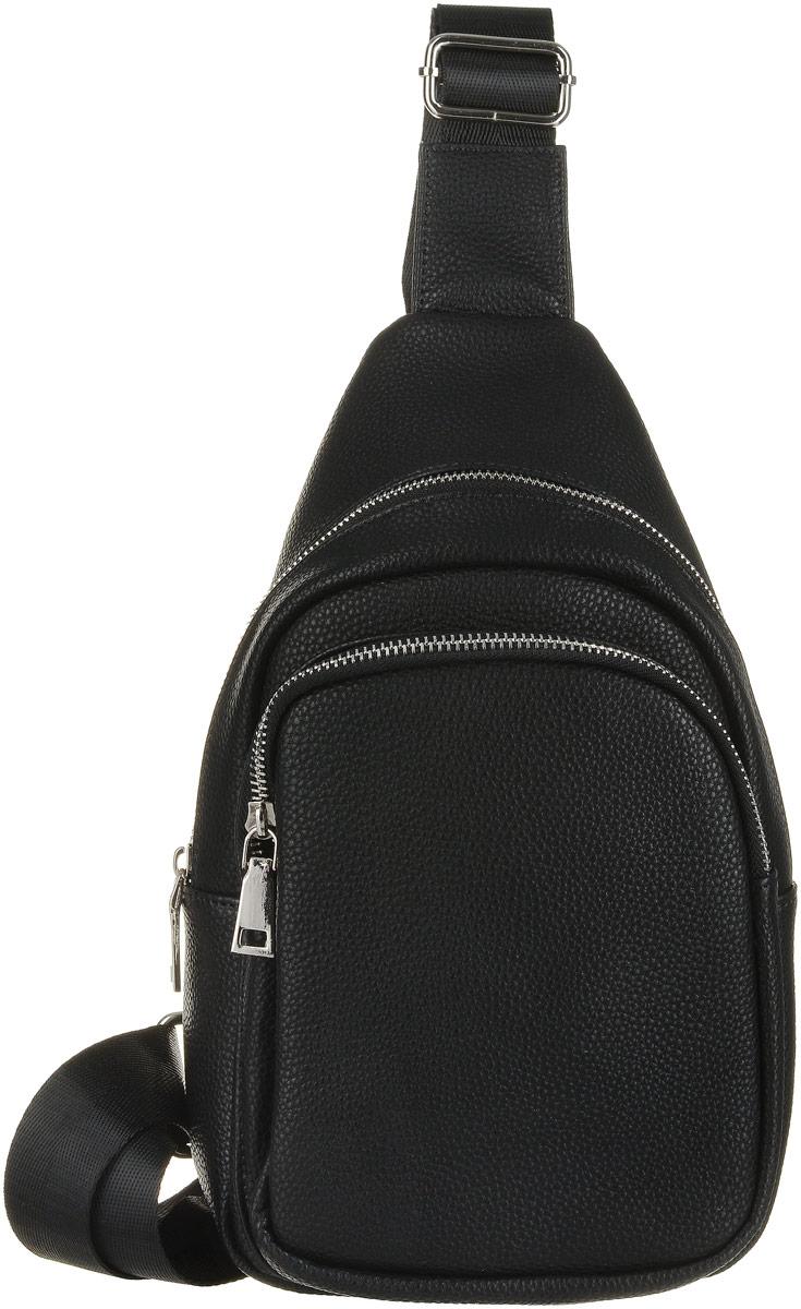 Рюкзак мужской OrsOro, цвет: черный. D-038/1D-038/1Рюкзак OrsOro выполнен из высококачественной искусственной кожи зернистой текстуры. Изделие оснащено удобным плечевым ремнем, длина которого регулируется с помощью пряжки. На лицевой стороне расположен один объемный карман на молнии. Рюкзак закрывается с помощью молнии. Внутри расположено главное отделение, которое содержит один небольшой накладной карман для мелочей.