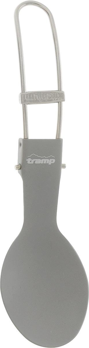 Ложка титановая Tramp, со складной ручкойTRC-065Стильные столовые приборы Tramp из титана — подчеркнут вкус владельца даже в мелочах. Благодаря дополнительному карабинчику приборы сложно потерять. Полный вес: 18 г. Длина: 19 см.