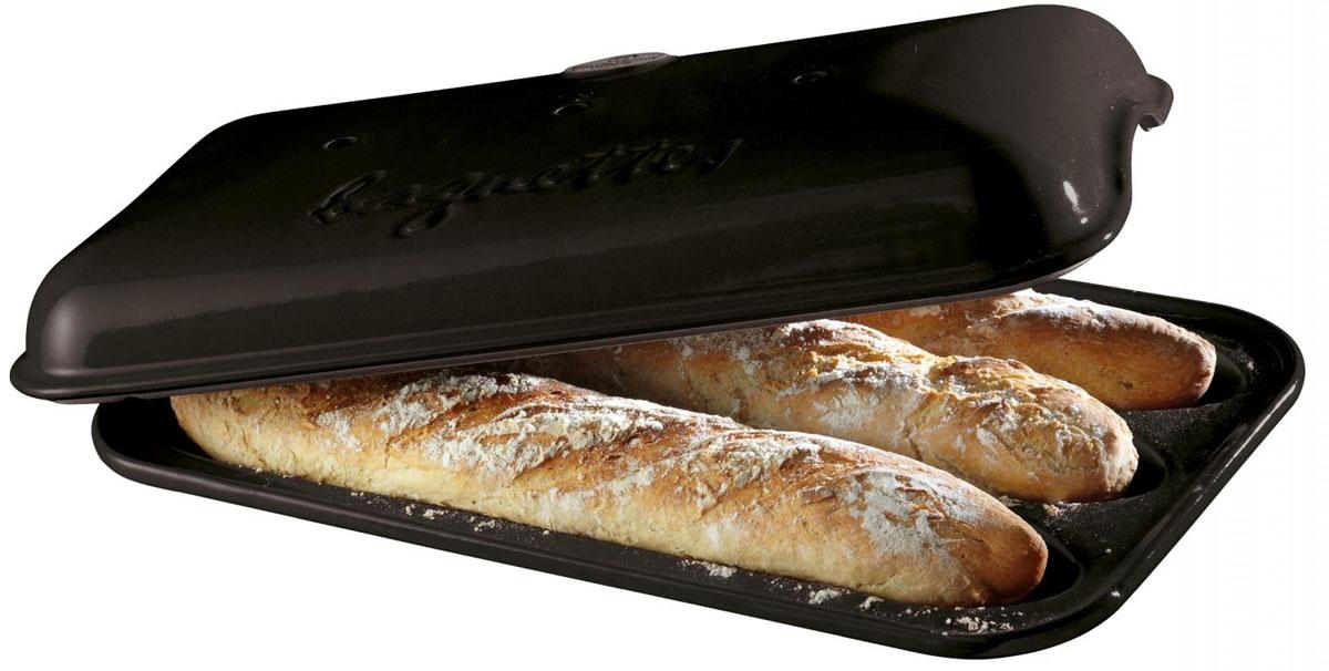 Форма для выпечки багетов Emile Henry, 39 х 24 см795506Керамическая форма для выпечки бегетов в домашних условиях. О товаре С керамической формой для выпечки багетов - вы сможете баловать своих домочадцев вкусным свежеиспеченным хлебушком. Форма бережно и неторопливо накапливает тепло, доставляя его к центру готовящейся выпечки. Теперь вы сможете порадовать выпечкой своих родных и гостей на высшем уровне с посудой Emile Henry!
