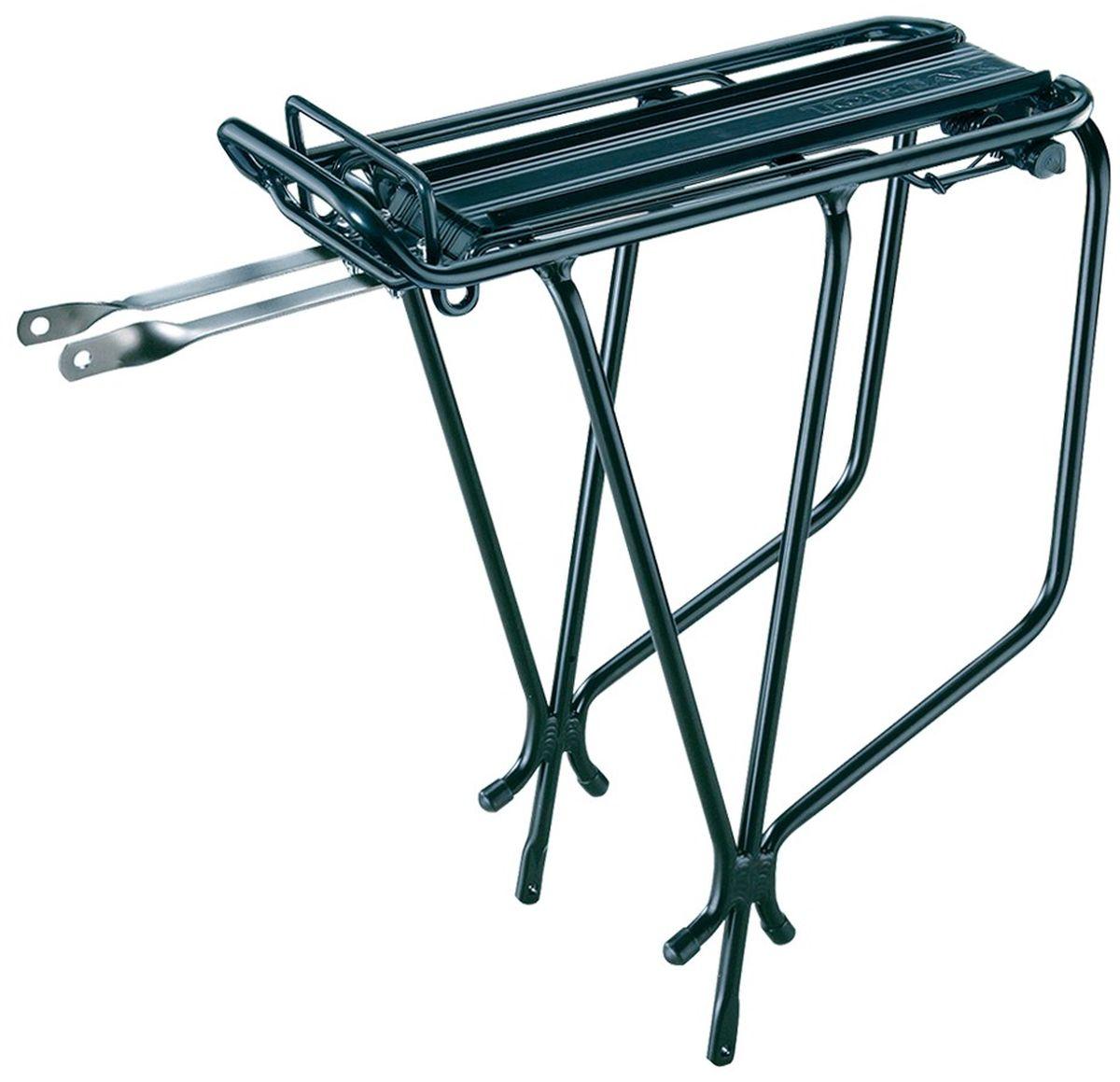 """Багажник задний TOPEAK Super Tourist Tubular Rack, с прищепкой, цвет: черныйTA2030-BПрочный алюминиевый багажник для поездок по городу или на дальние расстояния. Встроенная пружинная защелка удобна для закрепления легкого груза. QuickTrack совместим для использования с любым багажом MTX. Максимальная нагрузка: 30 кг / 66 lb. Размеры: 41 x 34 x 17 см / 16.1"""" x 13.4"""" x 6.7"""". Вес: 815 г / 1.80 lb."""