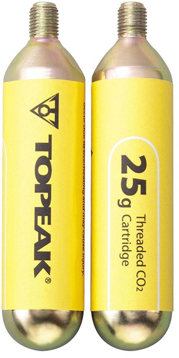 Картридж резьбовой CO2 TOPEAK 25G, для 29er покрышек, 2 штTCO25-2Картриджи CO2 2 шт./упаковка, для 29er покрышек.
