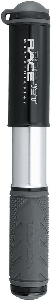 Насос велосипедный TOPEAK RaceRocket, цвет: черныйTRR-1BЭкстремально компактный и легкий насос для полевого обслуживания шоссейных и гибридных велосипедов. Выдвижной шланг (совместим с вело и авто ниппелями), фрезерованный алюминиевый корпус, интегрированный пыльник, максимальное давление 8 атмосфер. Компактный размер и низкий вес позволяют хранить насос не только на раме, но и в кармане веломайки или в подседельной сумке. Крепление: боковое, под флягодержателем. Размер 18 x 3.6 x 2.5 см. Вес 85 г.