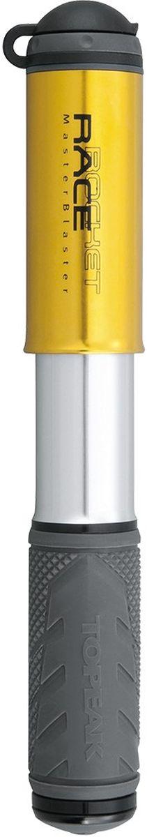 Насос велосипедный TOPEAK RaceRocket, цвет: золотистыйTRR-1GDЭкстремально компактный и легкий насос для полевого обслуживания шоссейных и гибридных велосипедов. Выдвижной шланг (совместим с вело и авто ниппелями), фрезерованный алюминиевый корпус, интегрированный пыльник, максимальное давление 8 атмосфер. Компактный размер и низкий вес позволяют хранить насос не только на раме, но и в кармане веломайки или в подседельной сумке. Крепление: боковое, под флягодержателем. Размер: 18 x 3.6 x 2.5 см. Вес: 85 г.