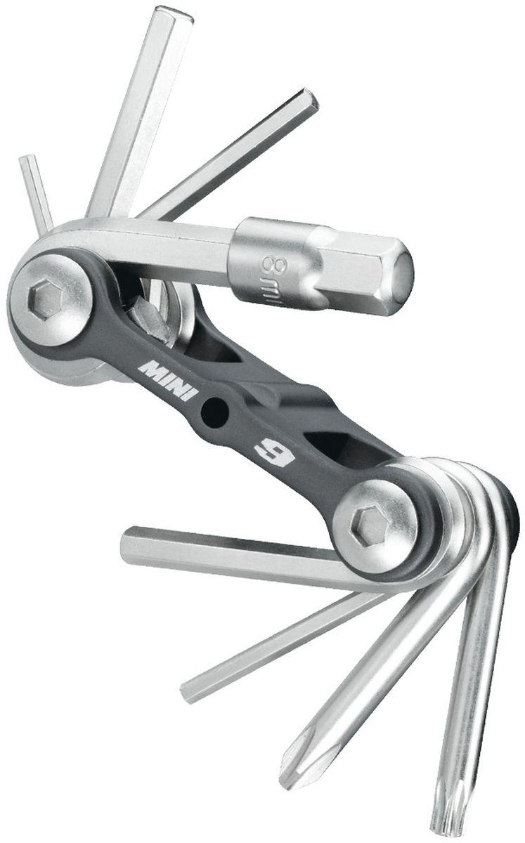 Мультитул TOPEAK Mini 9, с чехлом, 9 функцийTT2409Topeak Mini 9 MT. Специальная версися пополярного набора Mini 9, предназначенная специально для MTB. Гладкий, суперлегкий складывающийся набор. Инструменты сложены в корпус из литого алюминия. Чехол в комплекте. Инструментов 9 шт. Шестигранники 2/3/4/5/6 мм Ключи Torx® T10/T15/T25 Отвертки #2 крестовые. Вес: 92 г.
