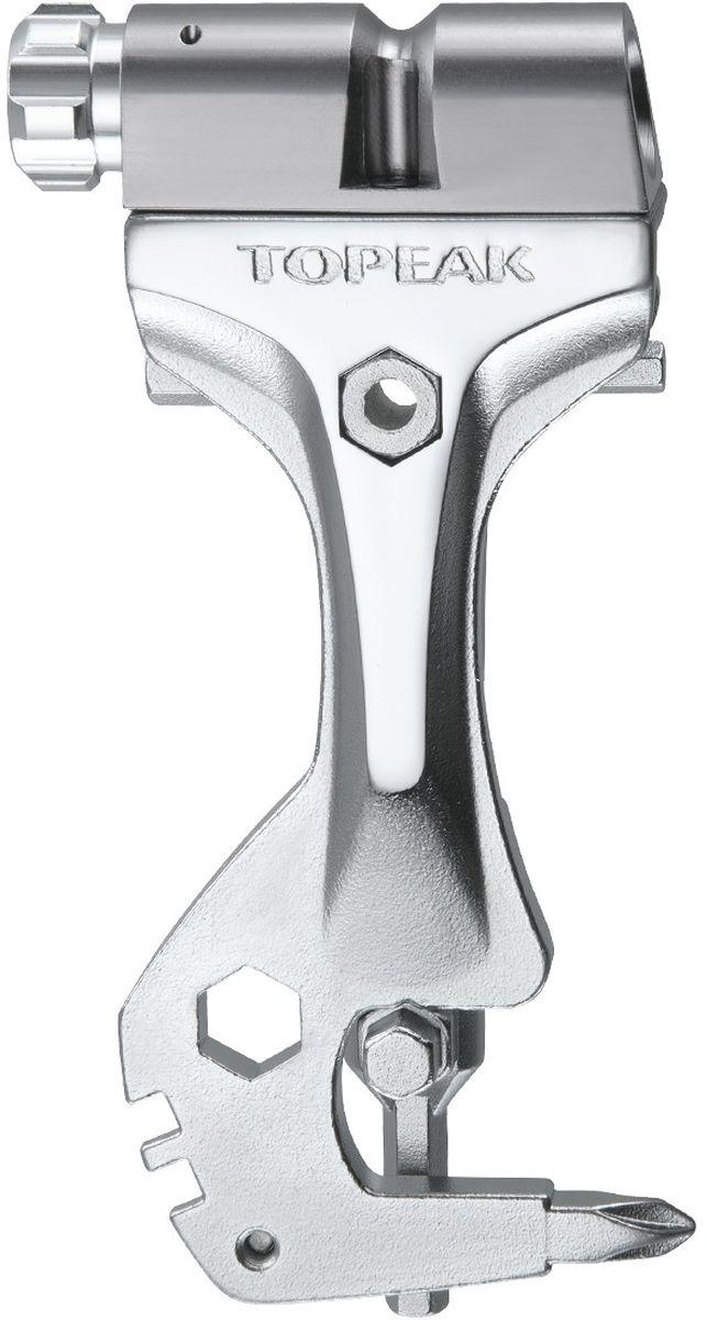 Инструмент с адаптером баллона СО2 TOPEAK Tool Monster AirTT2555Набор инструмента с 19-ю функциями, включая адаптер для баллона CO2 для быстрой подкачки колес. Максимальная интеграция и практичность. Берите с собой на тренировку только самое необходимое. Совместим с баллонами 16/25гр СО2. Характеристики: Количество инструментов (функций) - 19. Шестигранники - 1.5/2/2.5/3/4/5/6 (2шт.)/8 (2 шт.)/9mm Torx® - T10/T25. Спицевые ключи - 14g/15g. Отвертки - Phillips (крестовая). Материал адаптера CO2 - 6061 CNC AL. Совместимость с вентилями: Presta / Schrader. Материал инструмента - высокопрочная сталь. Материал корпуса - алюминиевый сплав. Тип инструмента: Набор (мини). Вес товара: 170 г (включая крепление). Размеры : 10,6 x 4,7 x 1,5 см.