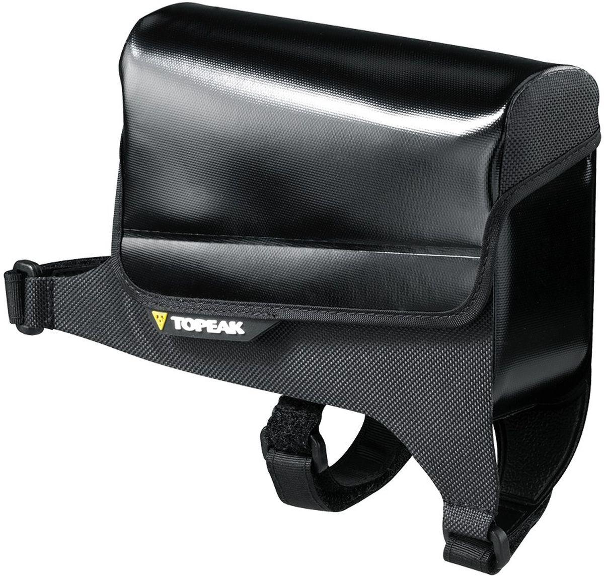 Сумка на верхнюю трубу велосипеда TOPEAK Tri DryBagTT9815BВодонепроницаемая сумка Topeak Tri DryBag быстро устанавливается на верхнюю трубу рамы, обеспечивая быстрый и легкий доступ к необходимым в поездке мелочам. Крепление: на липучках сверху на раму велосипеда. Размер: 14,5 x 4,7 x 12,8 см. Вес: 65 г. Цвет: черный.