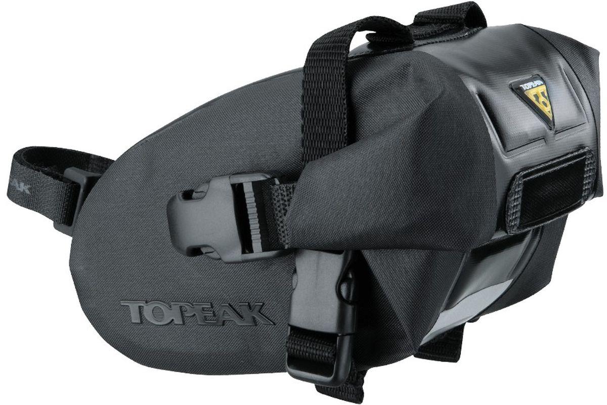 Сумка подседельная TOPEAK Wedge DryBag, с креплением на липучке, малая, цвет: черныйTT9817BПодседельная сумка TOPEAK Wedge DryBag, маленькая, с креплением на липучке, цвет - чёрный. Ее содержимое защитит от проливного дождя и грязи из-под колес водонепроницаемый нейлон и крепление на липучке. Размер: 15 x 9 x 9 cм. Вес: 140 г. Объем: 0.6 л.