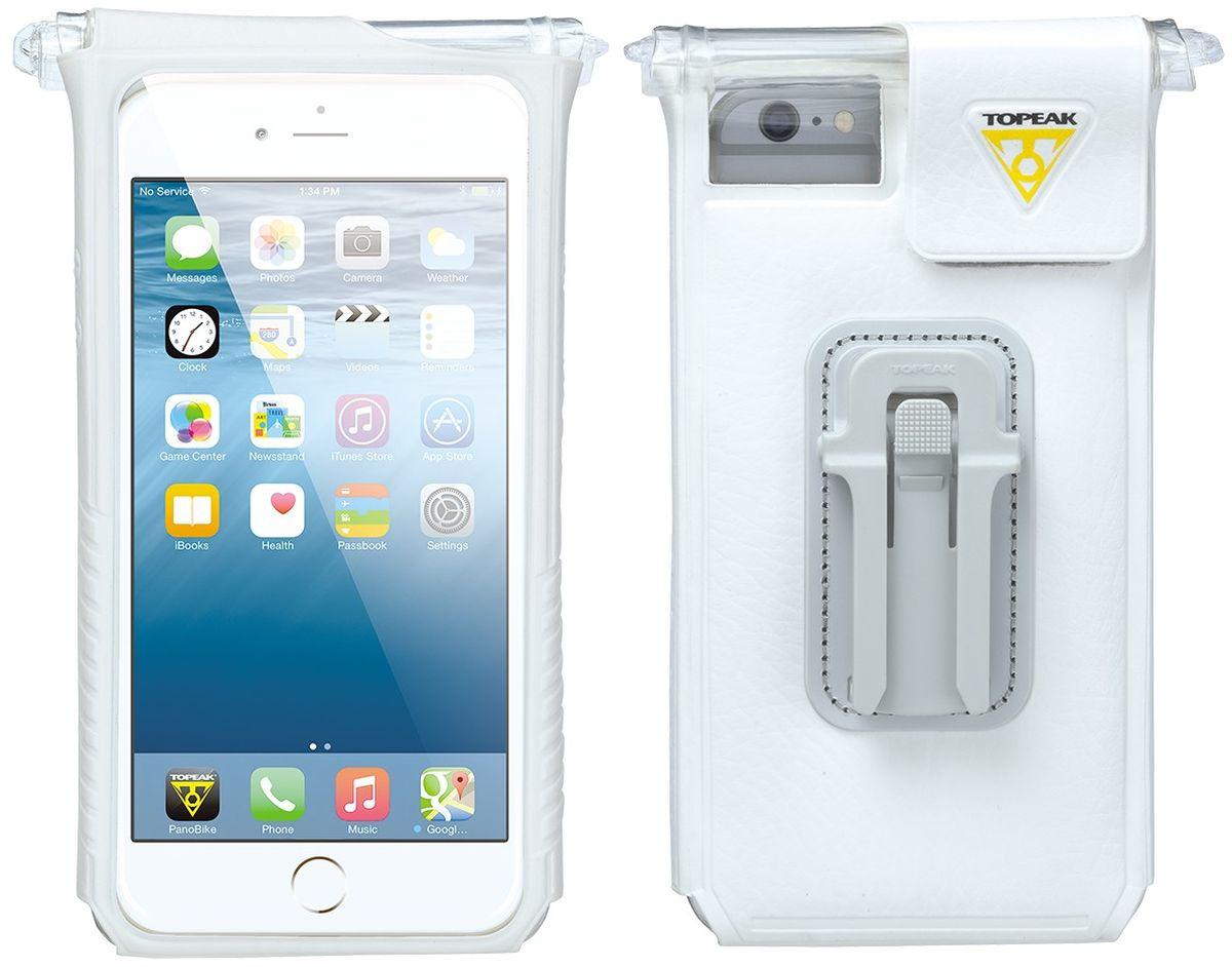 Чехол водонепроницаемый TOPEAK SmartPhone DryBag for iPhone 6 Plus, с креплением на руль, цвет: белыйTT9842WСпециальный чехол для популярного смартфона Apple iPhone 6/6S Plus с креплением на руль. Чехол Topeak SmartPhone DryBag полностью водонепроницаем. Есть возможность управлять кнопками включения и громкости. Возможность фотосъемки с камеры смартфона. Чехол будет полезен тем, кто ни на секунду не расстается с телефоном, особенно во время тренировок. Для смартфонов: iPhone 6S Plus, iPhone 6 Plus. Материал: Пластик, Силикон. Крепление: Руль или вынос руля. Дополнительно: крепление RideCase и крепление на чашку выноса F66. Размеры: 8.8 X 3 X 16.3 см.