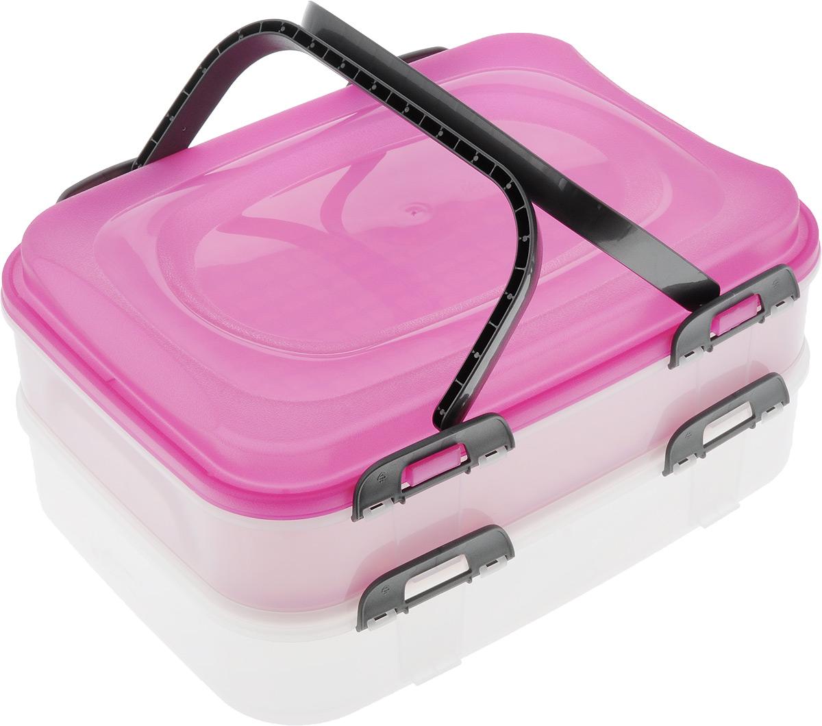 Набор контейнеров Axentia Бокс-сет, цвет: фуксия, прозрачный, 2 шт116833_фуксия, прозрачныйНабор Axentia Бокс-сет, изготовленный из высококачественного пластика, состоит из 2 пищевых контейнеров. Изделия оснащены крышками с застежками и удобными ручками. Идеально подходят для бизнес ланчей.