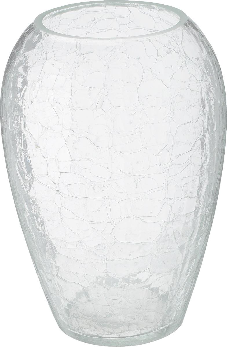 Ваза NiNaGlass, высота 25,3 см90-381Ваза NiNaGlass выполнена из высококачественного стекла и оформлена изящным рельефом. Такая ваза станет ярким украшением интерьера и прекрасным подарком к любому случаю. Высота вазы: 20. Диаметр вазы (по верхнему краю): 8 см.