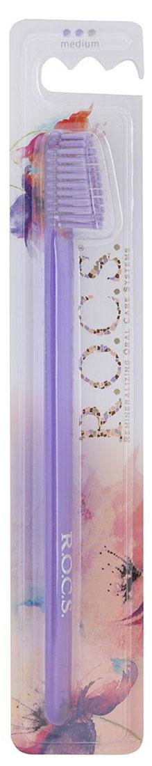 R.O.C.S. Зубная щетка Классическая, средняя жесткость, цвет: светло-фиолетовый03-04-009_светло-фиолетовыйR.O.C.S. Зубная щетка Классическая, средняя жесткость, цвет: светло-фиолетовый