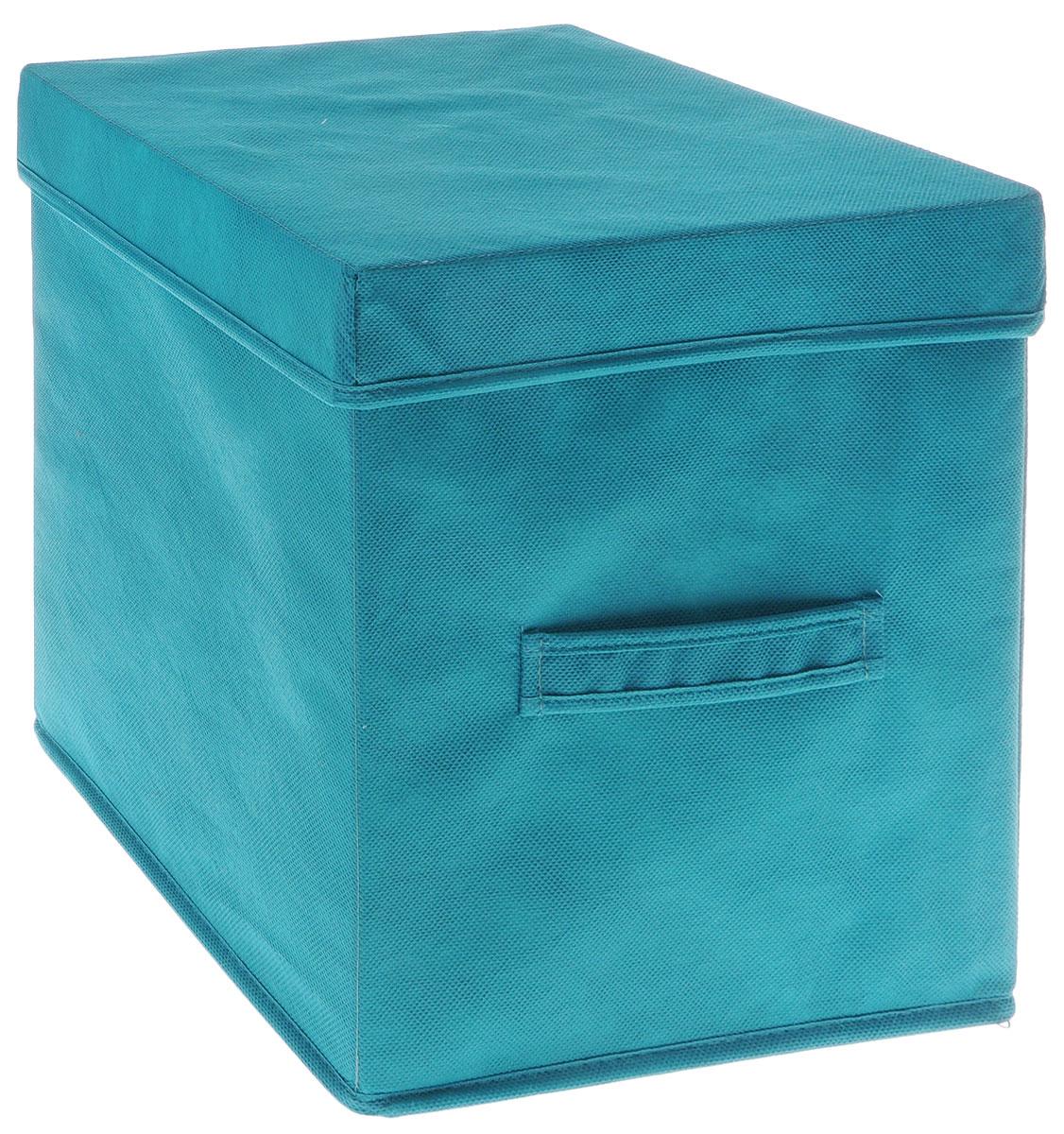 Коробка для вещей и игрушек Все на местах Minimalistic, с крышкой, цвет: бирюзовый, 30 х 30 х 30 см1012036.Коробка с крышкой Minimalistic выполнена из высококачественного нетканого материала, который обеспечивает естественную вентиляцию и предназначен для хранения вещей или игрушек. Он защитит вещи от повреждений, пыли, влаги и загрязнений во время хранения и транспортировки. Размер коробки: 30 х 30 х 30 см.