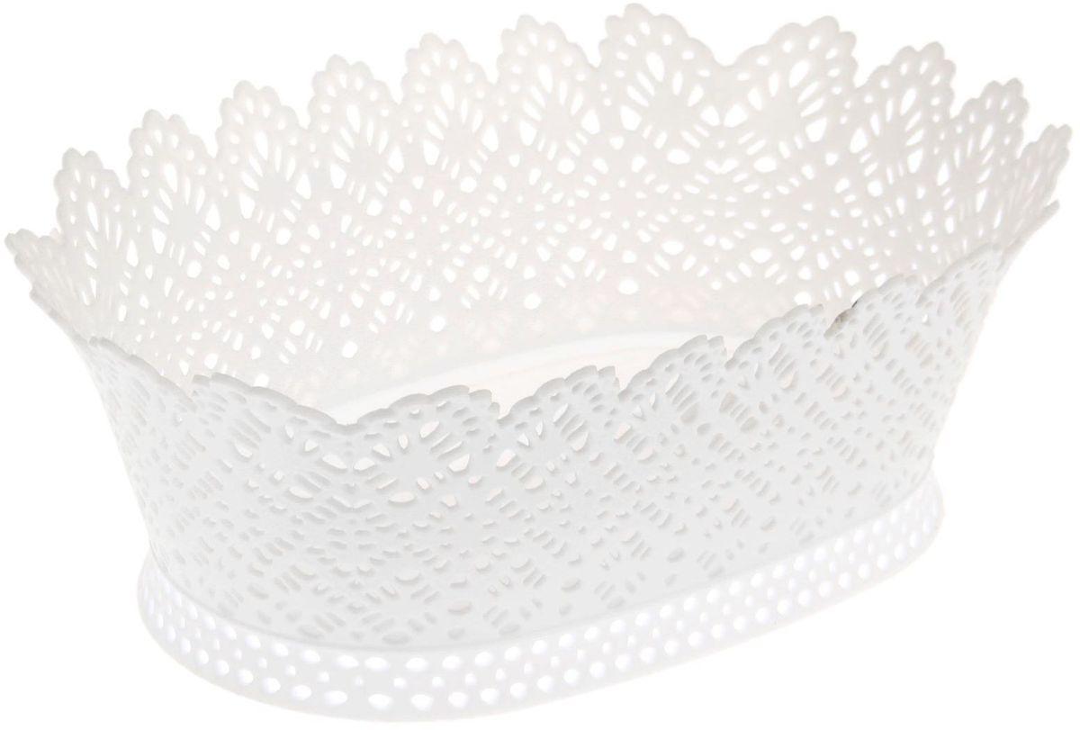 Корзинка Fimako, ажурная, цвет: белый, 20 х 28 х 10 см1456067От качества посуды зависит не только вкус еды, но и здоровье человека. Любой хозяйке будет приятно держать его в руках. С посудой и кухонной утварью Fimako приготовление еды и сервировка стола превратятся в настоящий праздник.