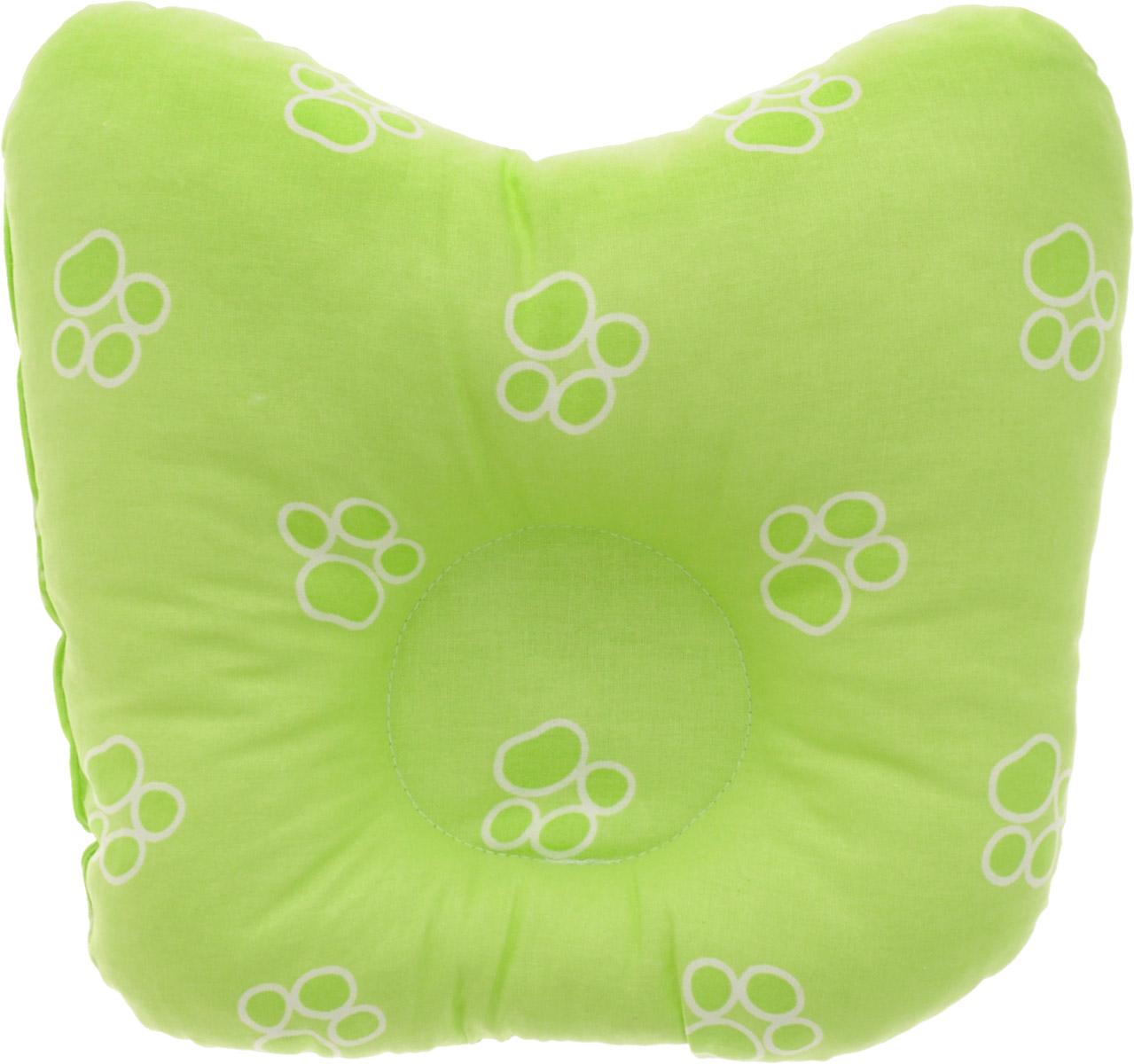 Сонный гномик Подушка анатомическая для младенцев Лапки цвет салатовый 27 х 27 см