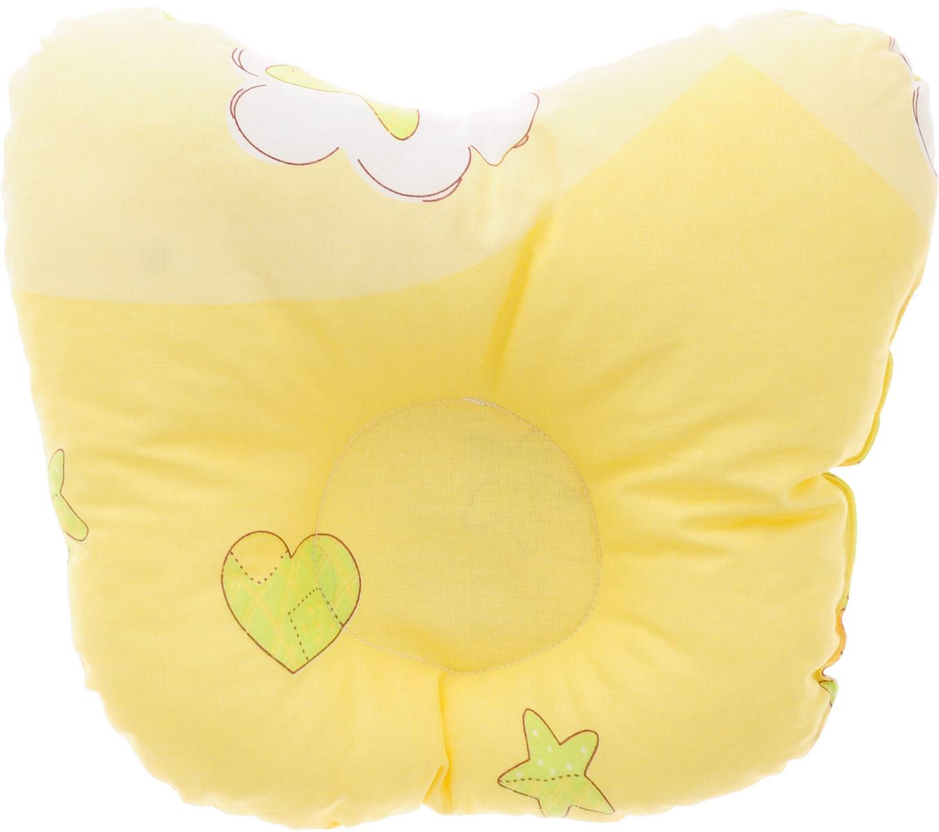 Сонный гномик Подушка анатомическая для младенцев Мишки цвет желтый 27 х 27 см 555А_мишки, желтый