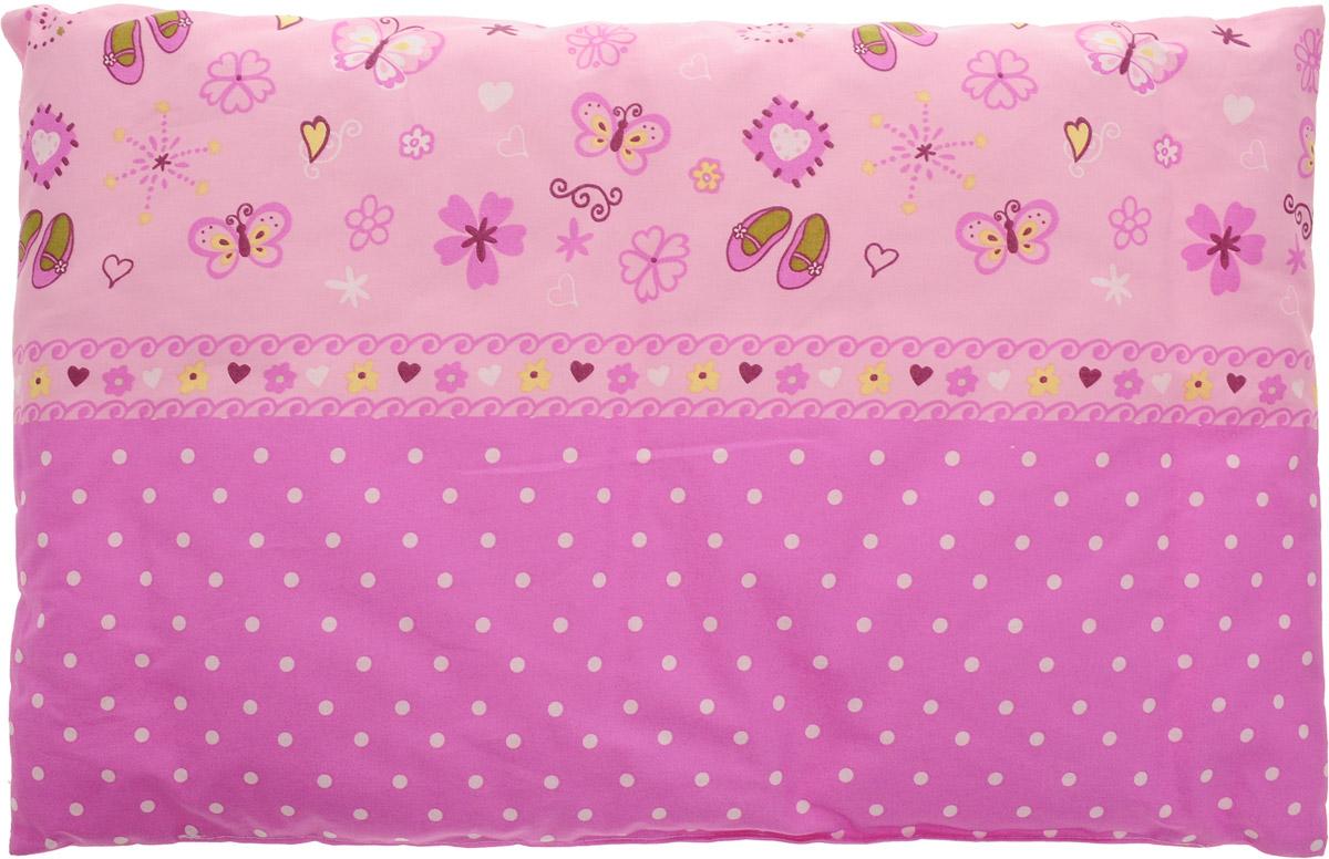 Сонный гномик Подушка детская Горошек цвет розовый 60 х 40 см 555С_розовый