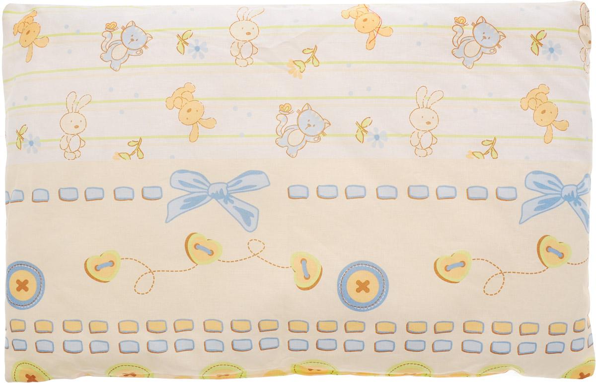 Сонный гномик Подушка детская Заяц и кот цвет белый бежевый голубой 60 х 40 см 555Б_белый, бежевый, голубой