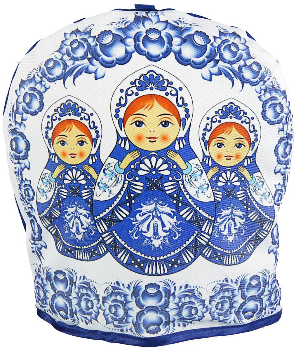 Грелка на чайник Русская красавица, 25 х 24 х 3 см2333849Текстильные товары пользовались большой популярностью во все времена. Это беспроигрышный подарок, ведь все любят мягкие и приятные на ощупь ткани. Грелка на чайник — неповторимое сочетание необычного дизайна и высокого качества.