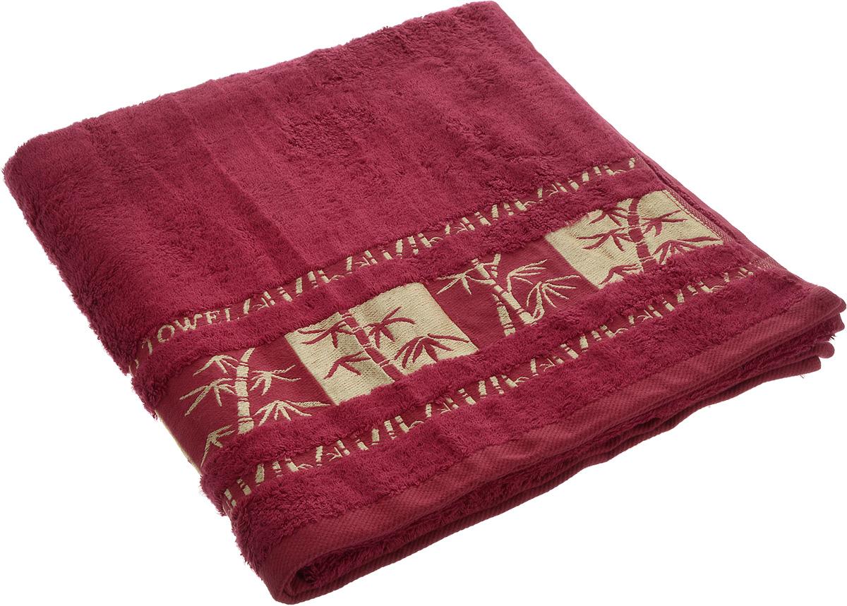 Полотенце Brielle Bamboo Gold, цвет: бургунди, 70 х 140 см1213Полотенца ТАС Приятно удивляют и дают возможность почувствовать себя творцом окружающего декора. Махровая ткань – официальное название «фроте», народное – «махра». Фроте – это натуральная ткань, поверхность которой состоит из ворса (петель основных нитей). Ворс может быть как одинарным (односторонним), так и двойным (двусторонним).