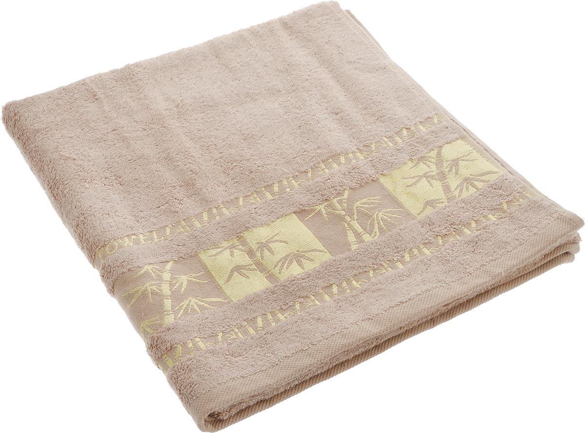 Полотенце Brielle Bamboo Gold, цвет: мокко, 70 х 140 см1213Полотенце Brielle Bamboo Gold выполнено из бамбука с содержанием хлопка. Изделие очень мягкое, оно отлично впитывает влагу, быстро сохнет, сохраняет яркость цвета и не теряет формы даже после многократных стирок. Одна из боковых сторон оформлена оригинальным рисунком и надписью. Полотенце Brielle Bamboo Gold очень практично и неприхотливо в уходе. Такое полотенце послужит приятным подарком.