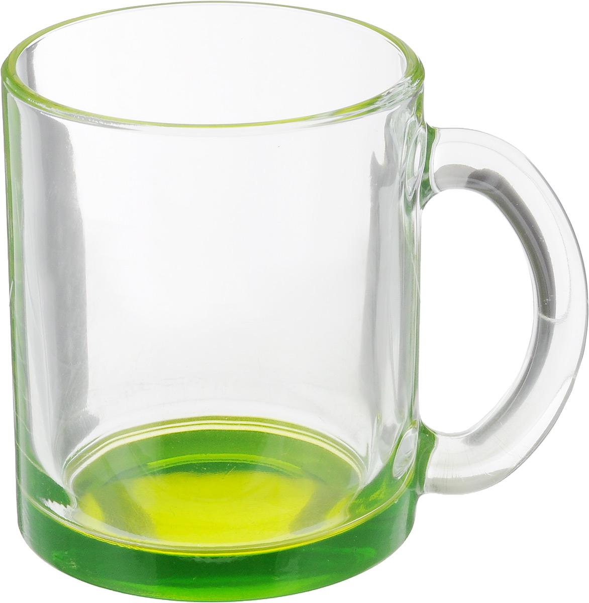 Кружка OSZ Чайная, цвет: прозрачный, зеленый, 320 мл04C1208LM_зеленыйКружка OSZ Чайная изготовлена из стекла двух цветов. Изделие идеально подходит для сервировки стола. Кружка не только украсит ваш кухонный стол, но подчеркнет прекрасный вкус хозяйки. Диаметр кружки (по верхнему краю): 8 см. Высота кружки: 9,5 см. Объем кружки: 320 мл.