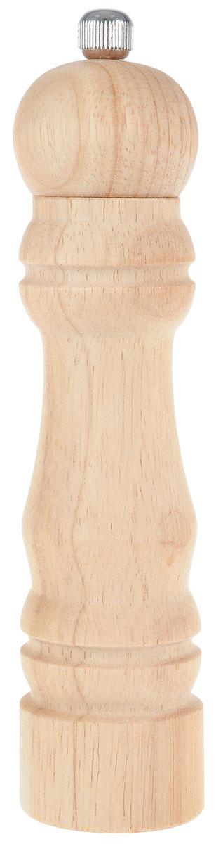 Мельница для перца Metaltex, высота 18,5 см58.60.17Мельница для перца Metaltex изготовлена из дерева и стали. Жернова в основании перцемолки изготовлены из керамики. Мельница легка в использовании, стоит только покрутить верхнюю часть мельницы, и вы с легкостью сможете поперчить по своему вкусу любое блюдо. Высота емкости: 18,5 см. Диаметр основания емкости: 4 см.