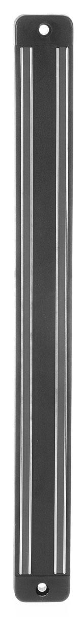 Держатель магнитный настенный Metaltex, 33 см25.81.98Настенный магнитный держатель - это удобное приспособление, которое непременно пригодится на вашей кухне. Он выполнен из металла и пластика и для удобства крепится к стене при помощи двух шурупов с дюбелями. Магнитный держатель предохранит ваш кухонный нож от царапин и контактов с остальными ножами и столовыми приборами. Кухонные ножи всегда будут остры и пригодны для любых нагрузок. Магнитный держатель - это стильный аксессуар для вашей кухни. Размеры держателя: 33 х 3 х 1,5 см.
