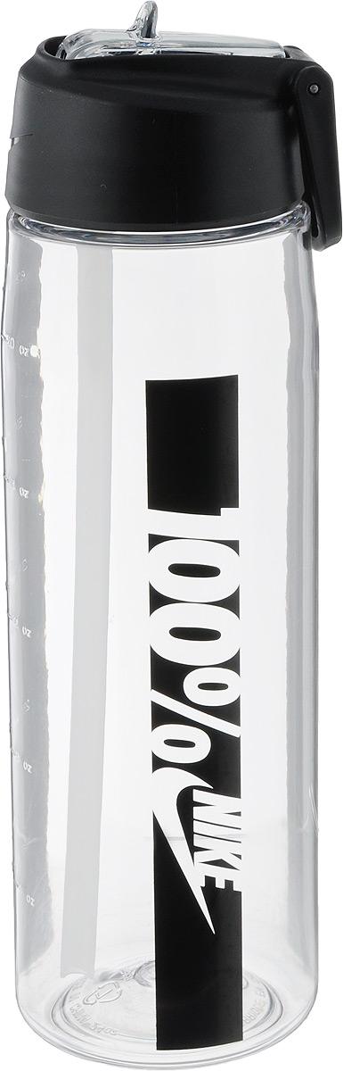 Бутылка для воды Nike Core Flow 100 Water Bottle 24oz, цвет: прозрачный, черный, 709 млN.OB.C0.901.24Бутылка для воды Nike Core Flow 100 Water Bottle 24oz с горлышком, которое поднимается на 90 градусов, что обеспечивает простоту в использовании. Модель дополнена измерительной шкалой. Возможно мытье в посудомоечной машине, легко собирается и разбирается. Технология материала Tritan обеспечивает долговечность и ударопрочность. Объем: 709 мл. Длина: 23 см. Диаметр (по нижнему краю): 7 см.