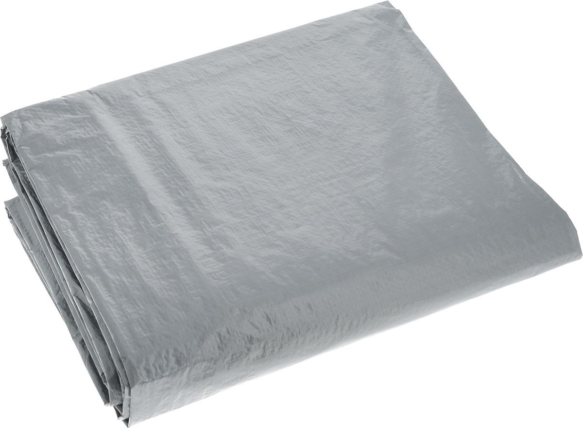 Тент тарпаулин Indiana, цвет: серый, 3 х 4 м501000000_серыйТент тарпаулин Indiana изготовлен из высокосортного полиэтиленового сырья и ламинирован прозрачной полиэтиленовой пленкой с пропиткой от УФ-излучения. Именно этим тент тарпаулин и отличается от полипропиленовых тентов, которые не имеют защиты от УФ-воздействия. Тент оснащен люверсами, благодаря которым его можно монтировать на каркасную основу или использовать для свободного укрытия объектов. Тент используется для укрытия стройматериалов от дождя и снега, для сооружения временных навесов, для закрытия оконных проемов, для укрытия грузов, прицепов, автомашин, в качестве навесов, палаток, подстилок в походах, на отдыхе. Плотность: 120 г/м2. Размер: 3 м х 4 м.