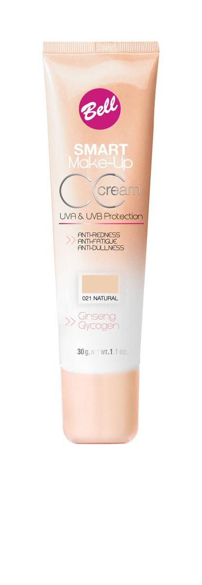 Bell Флюид Комплексный Cс Cream Smart Make-up Тон 21BflCC021Редуцирует покраснения, устраняет мелкие недостатки кожи, придает коже ровный тон. Содержит UVA и UVB фильтры, защищающие кожу от вредного действия солнечных лучей.