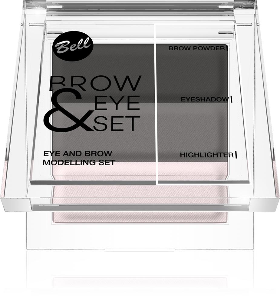 Bell Набор Для Моделирования Бровей И Глаз Brow And Eye Modelling Set Тон 02