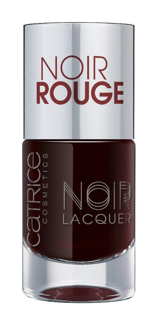 Catrice Лак для ногтей Noir Noir Lacquers 02 Noir Rouge темная вишня 10 мл59913Стойкая формула и эффектный глянцевый блеск, новые лаки CATRICE Noir Noir Lacquers – словно коллекция «маленьких черных платьев» для ногтей! В каждом из них глубокий черный тон дополнен едва уловимой ноткой цвета – зеленого, синего, фиолетового или красного. Плотная текстура обеспечивает равномерное нанесение.