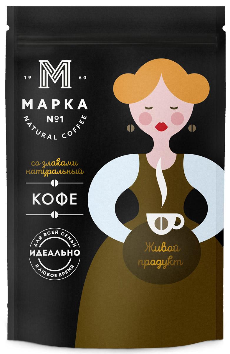 Марка №1 Кофе растворимый со злаками, 75 г4607142233868фасованный растворимый кофейный напиток с добавлением растворимого кофе, представляющий собой высушенный экстракт жареного ячменя, с добавлением высушенного экстракта натурального жареного кофе.
