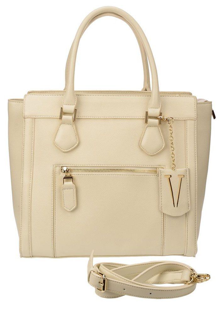 Сумка женская Vera Victoria Vito, цвет: белый. 32-509-232-509-2Функциональная сумка от VV-Vito выполнена из плотной эко-кожи белого цвета - отличный вариант для деловых будней. Великолепное качество и удобство - то, за что вы влюбитесь в эту модель! Закрывается на молнию, носится на сгибе руки. Эта стильная женская сумка станет любимым аксессуаром для леди, ценящих комфорт. Украшена золотистой фурнитурой. Хорошо держит форму. Спереди карман на молнии. На дне имеются металлические ножки. Внутри: один вместительный отдел, карман для документов на молнии, два кармана для мелочей. Дополнительно регулируемый ремень на карабине. Ширина дна 17см.