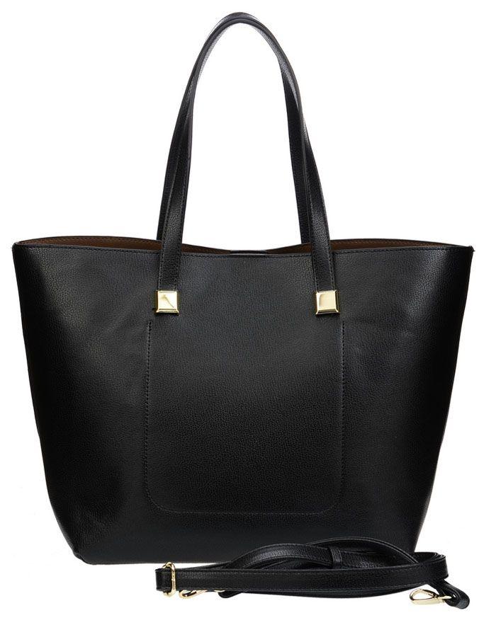 Сумка женская Vera Victoria Vito, цвет: черный. 32-523-132-523-1Тренд сезона - две сумки в одной для практичных женщин, которые любят всегда все брать с собой. Большая сумка довольно вместительная, и вместе с тем простая, в нее вы можете сложить крупные предметы. Она выполнена полностью из экокожи. Модель застегивается на магнитную кнопку, внутри два кармана, один из которых на молнии. Внутри прямоугольная сумочка на молнии (35 см х 23см) для более мелких вещей, выполнена из экокожи, внутри подкладка из текстиля, имеет карман на молнии и кармашки для мелочей. Дополнительно плечевой ремень на карабине.