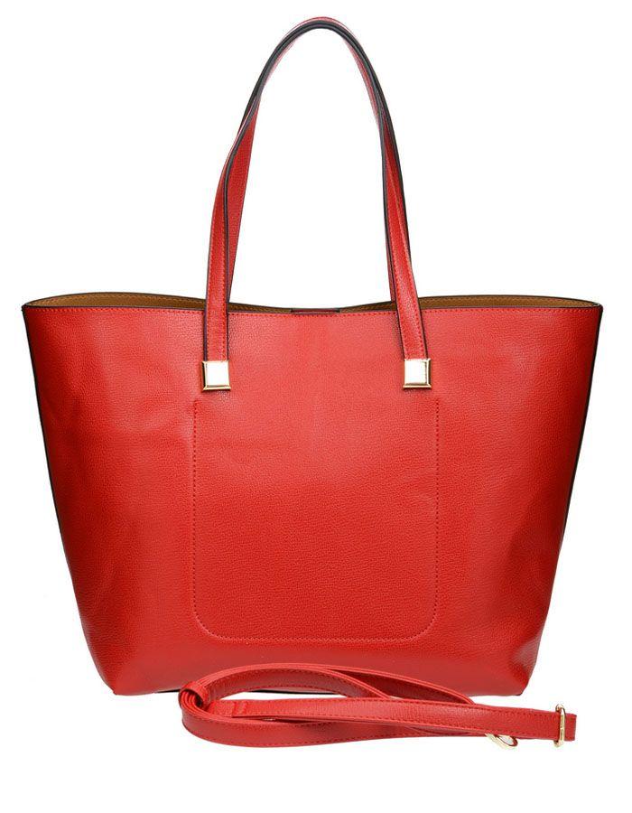Сумка женская Vera Victoria Vito, цвет: красный. 32-523-332-523-3Тренд сезона - две сумки в одной для практичных женщин, которые любят всегда все брать с собой. Большая сумка довольно вместительная, и вместе с тем простая, в нее вы можете сложить крупные предметы. Она выполнена полностью из экокожи. Модель застегивается на магнитную кнопку, внутри два кармана, один из которых на молнии. Внутри прямоугольная сумочка на молнии (35 см х 23см) для более мелких вещей, выполнена из экокожи, внутри подкладка из текстиля, имеет карман на молнии и кармашки для мелочей. Дополнительно плечевой ремень на карабине.