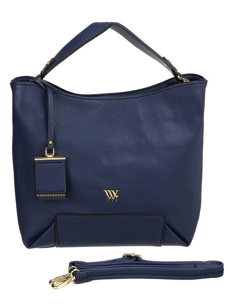 Сумка женская Vera Victoria Vito, цвет: синий. 32-608-532-608-5Оригинальная плоская сумка от VV-Vito понравится каждой моднице! Демократичный строгий фасон, практичная расцветка и благородная фактура эко-кожи позволяют легко вписать её в деловой и повседневный стиль. На дне сумки имеется плотная прошитая вставка, которая служит основанием и декором изделия. Главное отделение застёгивается на молнию. Внутри карман на молнии и кармашки для мелочей. С задней стороны карман на молнии. Сумка можно носить в руке и на плече, благодаря съёмному ремню на карабине.