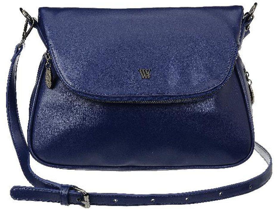 Сумка женская Vera Victoria Vito, цвет: темно-синий. 36-636-536-636-5Сумка женская Vera Victoria Vito выполнена из экокожи. У сумки одна удобная регулируемая ручка на плечо. По контуру проходит молния для увеличения объема сумки. Лаконичная модель застегивается на молнию и клапан на магните с карманом на молнии. Внутри одно отделение, карман для паспорта и кармашки для мелочей. С обратной стороны карман на молнии.