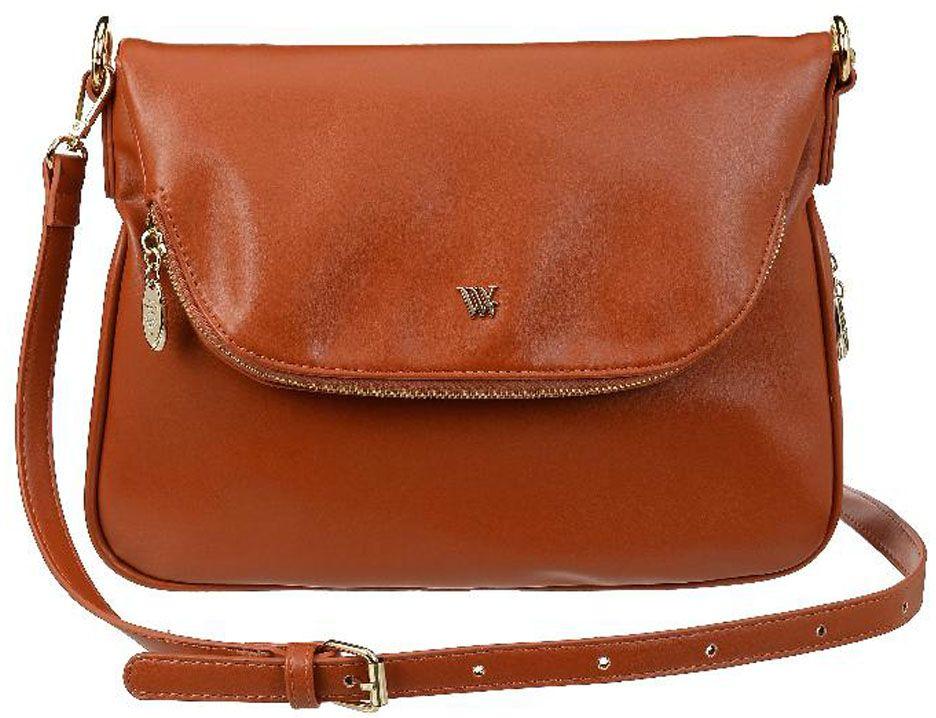 Сумка женская Vera Victoria Vito, цвет: коричневый. 36-636-636-636-6Ищете удобную и практичную женскую сумку на каждый день? Рекомендуем купить эту модель из эко-кожи от VV-Vito! Благодаря сочетанию элегантности и непринужденности сумка выделяется среди повседневных женских аксессуаров. В ней всегда найдется место для всех необходимых Вам вещей. Одна удобная регулируемая ручка на плечо. По контуру проходит молния для увеличения объема сумки. Лаконичная модель застегивается на молнию и клапан на магните с карманом на молнии. Внутри: одно отделение, карман для паспорта и кармашки для мелочей. С обратной стороны карман на молнии.