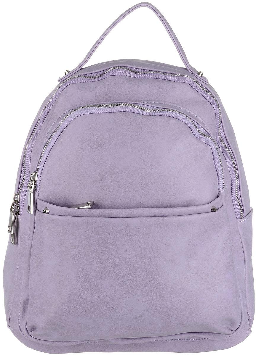 Рюкзак женский OrsOro, цвет: сиреневый. D-183/80D-183/80Рюкзак OrsOro выполнен из высококачественной искусственной кожи. Изделие оснащено ручкой для подвешивания. Также сумка имеет удобные лямки, длину которых можно изменять с помощью пряжек. На лицевой стороне расположен один объемный карман на молнии и накладной карман на молнии. На тыльной стороне расположен вшитый карман на молнии. Изделие закрывается с помощью молнии. Внутри расположено главное отделение, которое содержит один небольшой карман на молнии и два открытых кармана для телефона и мелочей.