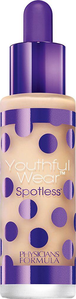 Physicians Formula Тональная основа На 10 лет моложе SPF 15 Youthful Wear Spotless Foundation тон светлый 28.35 г6223EУникальные инновационные компоненты позволяют стереть видимые признаки старения Осветляющие космецевтические формулы позволяют уменьшить существующие темные пятна, возрастные и солнечные пигментные пятна. SPF 15 помогает защищать кожу от UVA/UVB лучей и позволяет предотвратить появление новых пигментных пятен. Содержит уникальные космецевтические компоненты